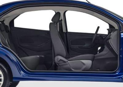 Un auto compacto con un gran espacio Interior
